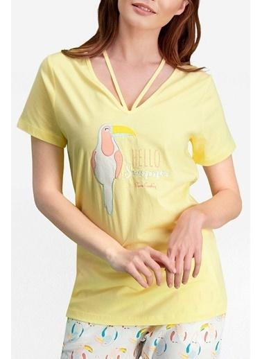 Pierre Cardin Pierre Cardin Limon Sarı Kadın Kapri Takım Sarı